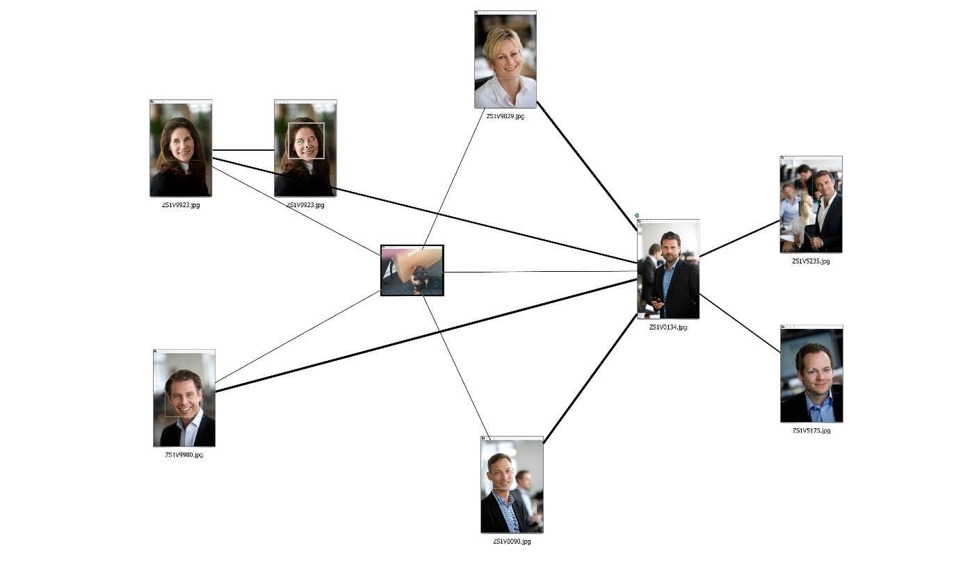 analiza relacji w Griffeye