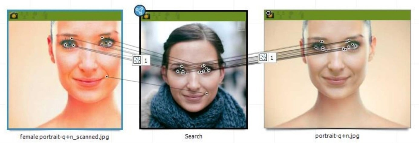mechanizm FaceSearch w praktyce - analiza multimediów - Griffeye